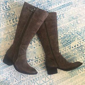 Grey Born Suede Boots